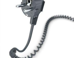 3D model CEE-7slash7 90-degree Plug