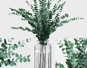 Bouquet of eucalyptus branches 3D model