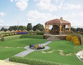 3D Landscape with house