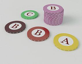 Casino Roulette Chips 3D model