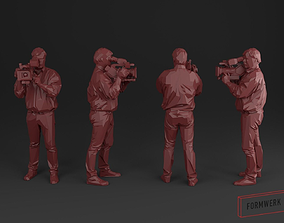 Camera man 03 - Low Poly printable 3D model realtime