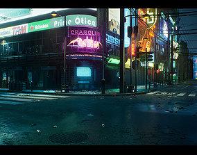 Cyberpunk City Recife Environment 3D model