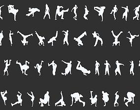 Dancer Silhouettes Pack 3D print model