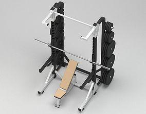 GYM Half Rack 3D model