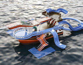 3D model aqua ship bridge