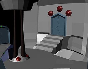 3D asset Centerpiece of a game with doors that lead to 1