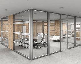 3D model office interior partition pr2-522