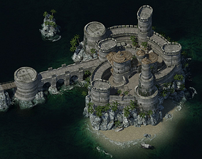 3D model realtime Medieval Castle