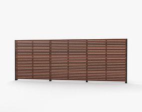 Modern Wooden Fence 3D model