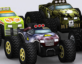 3DRT - Road Rush Monster Trucks gameready VR / AR ready