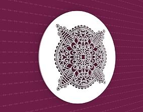 Mandala ornament abstract 3D