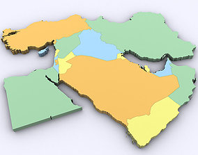 3D model Map of the Middle East