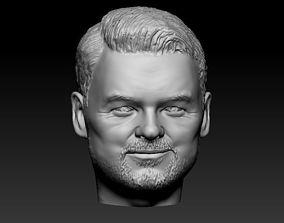 Male head 17 3D print model