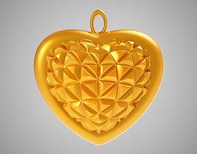 3D printable model Cone Heart Pendant