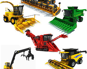 Farm Combine Collection 3D model