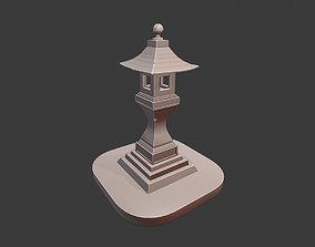 3D Stylized Japan lamp