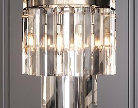 RH 1920S ODEON CLEAR GLASS FRINGE SCONCE Nickel 3D model