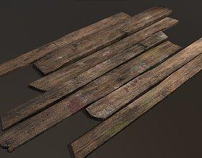 3D asset Wooden planks