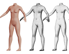Character 22 High and Low-poly - Body Female 3D model