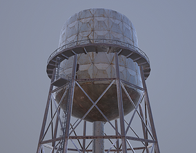 3D model Rusted Old Water Tower Farm