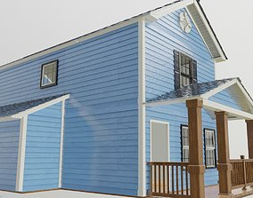 Modular house textured and well uv 3D model