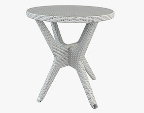 Patio Round End Table 3D