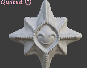 Smiley star ornaments 3D printable model