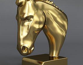 3D model realtime ornamental figurine of a horses head