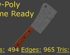 3D model Low-Poly Cleaver