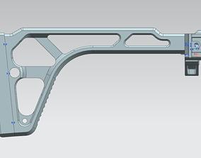MCX skeleton folding stock 3D print model