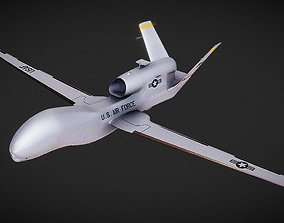 VR / AR ready Northrop Grumman RQ-4A Global Hawk 3D Model