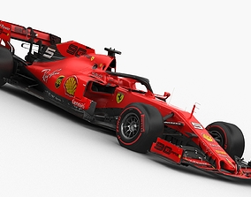3D F1 Scuderia Ferrari SF90 2019