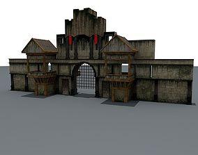 3D model Lowpoly CatleGate