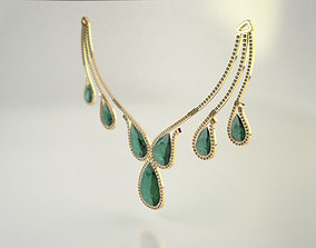 3D printable model Diamond Necklace - Pear cut Diamond