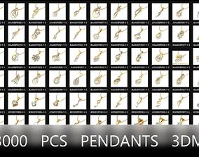 jewelry-3dm-files pendants 3000 pcs 3dm