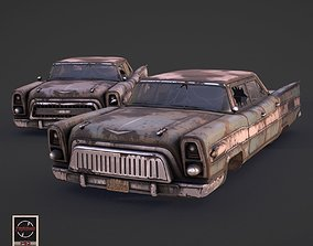 3D asset Post-Apocalyptic Retrofuturistic Car