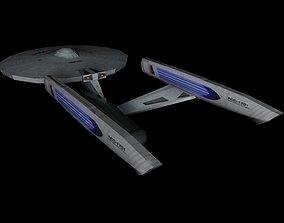 3D asset Star Trek Enterprise Constitution Refit - Game