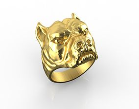 Pitbull Dog Rings 2 3D printable model