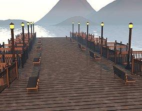 sunset shore 3D asset