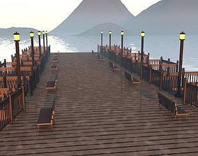 sunset shore 3D model