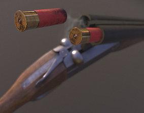Remington Double Barrel Shotgun 3D asset