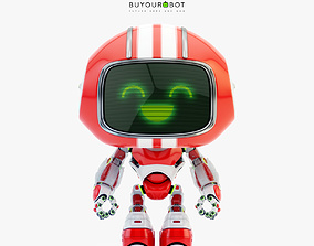 3D model Lovely robot - friendly toy companion II