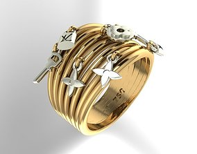 Luxury beads ring 3D printable model