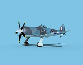 Hawker Sea Fury MKII V04 RN 3D