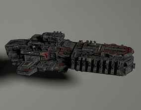 3D model Attack spacecraft