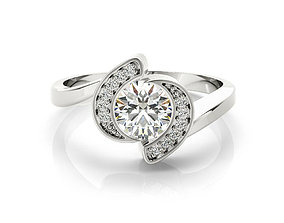 ring cad rose gold solitaire engagement ring 3dm file