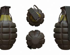 Pineapple Grenade - PBR Game Asset 3D model