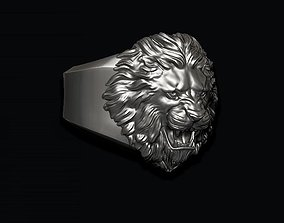 Lion ring 3D printable model jewelry