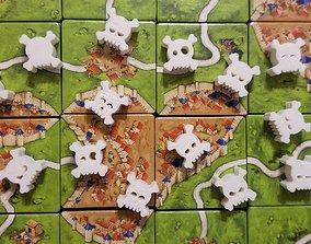 Cute Skull and Crossbones Meeple 3D printable model