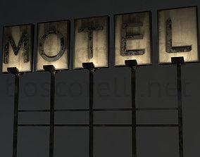 3D model Old Motel Sign Standing Horizontal v1 freaky